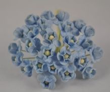 1.3cm BABY BLUE DOUBLE-LAYERED Daisy Mulberry Paper Flowers
